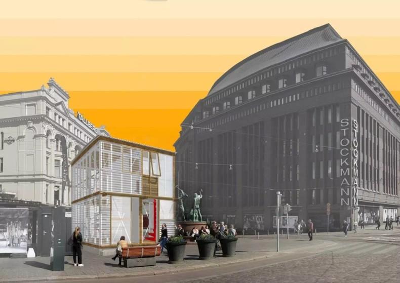 """谢英俊 ,""""中继屋""""效果图,2017年,赫尔辛基设计周 ,图片来源于设计周"""